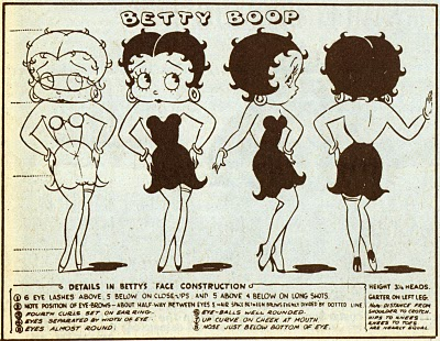 betty boop-model sheet